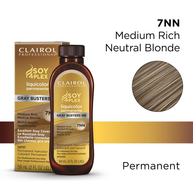 7NN Medium Rich Neutral Blonde LiquiColor Permanent Hair Color