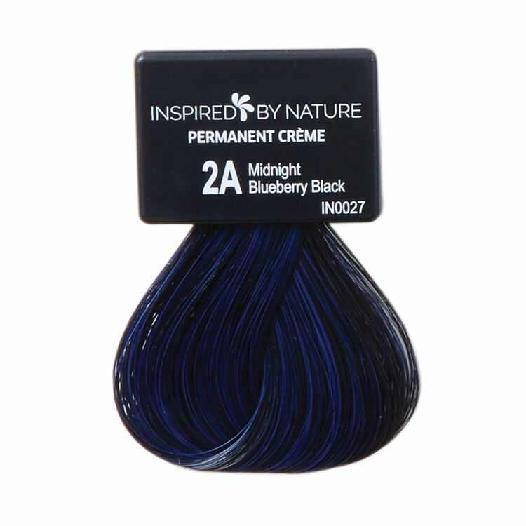 Ammonia-Free Permanent Hair Color Midnight Blueberry Black 2A