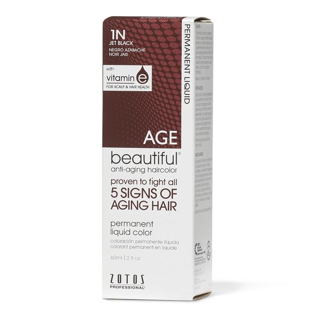 Anti-Aging 1N Jet Black Permanent Liquid Hair Color