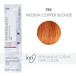 7RC Medium Copper Blonde Permanent Creme Hair Color