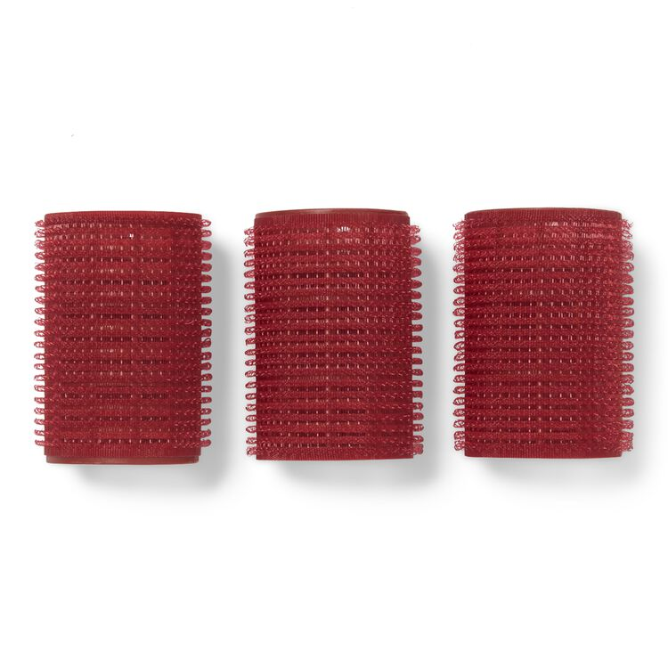 Red 1-1/2 Inch Classic Style Self Grip Rollers 5 Pack