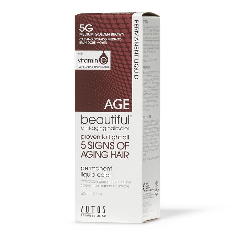Anti-Aging 5G Medium Golden Brown Permanent Liquid Hair Color