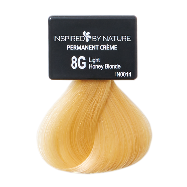 Ammonia-Free Permanent Hair Color Light Honey Blonde 8G