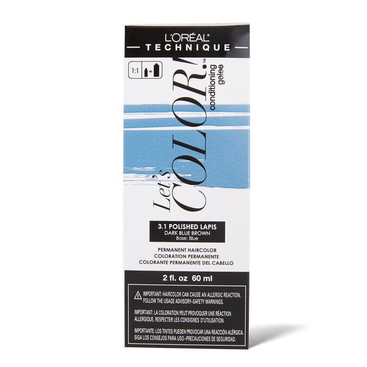 Let's COLOR! Conditioning Gelee Permanent Haircolor 3.1 Polished Lapis