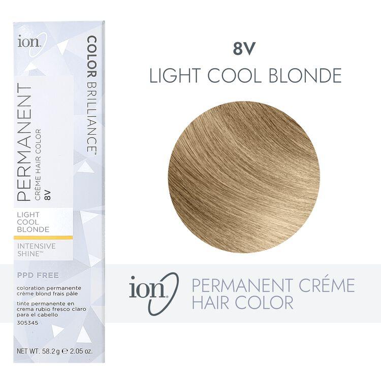 8V Light Cool Blonde Permanent Creme Hair Color