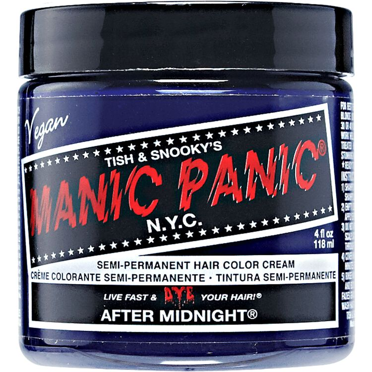 Manic Panic Semi-Permanent Hair Color Cream After Midnight Blue