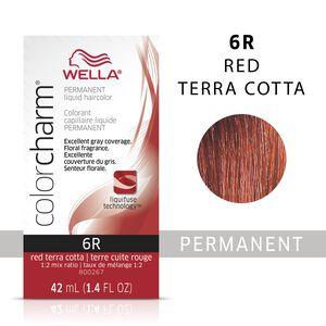 Red Terra Cotta Color Charm Liquid Permanent Hair Color