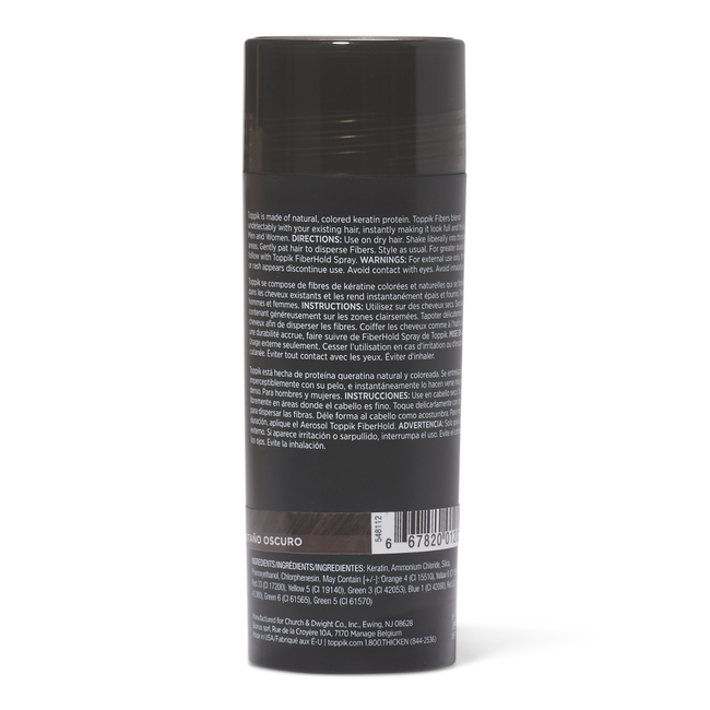 Dark Brown Hair Building Fibers