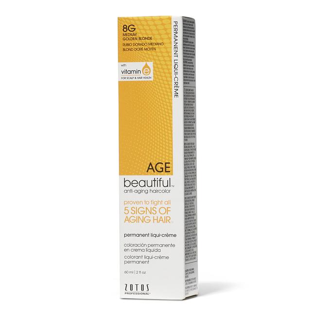 8G Medium Golden Blonde Permanent Liqui-Creme Hair Color
