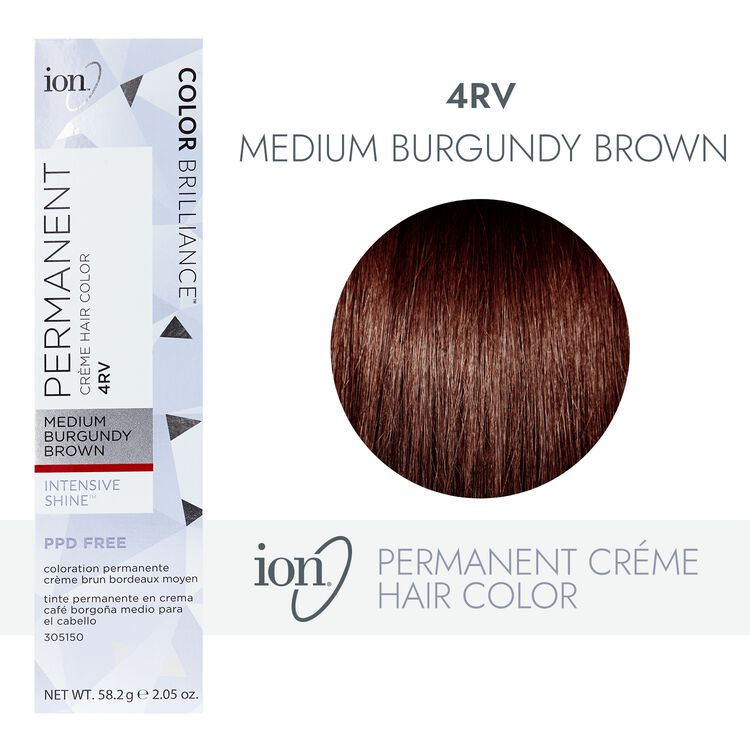 4RV Medium Burgundy Brown Permanent Creme Hair Color