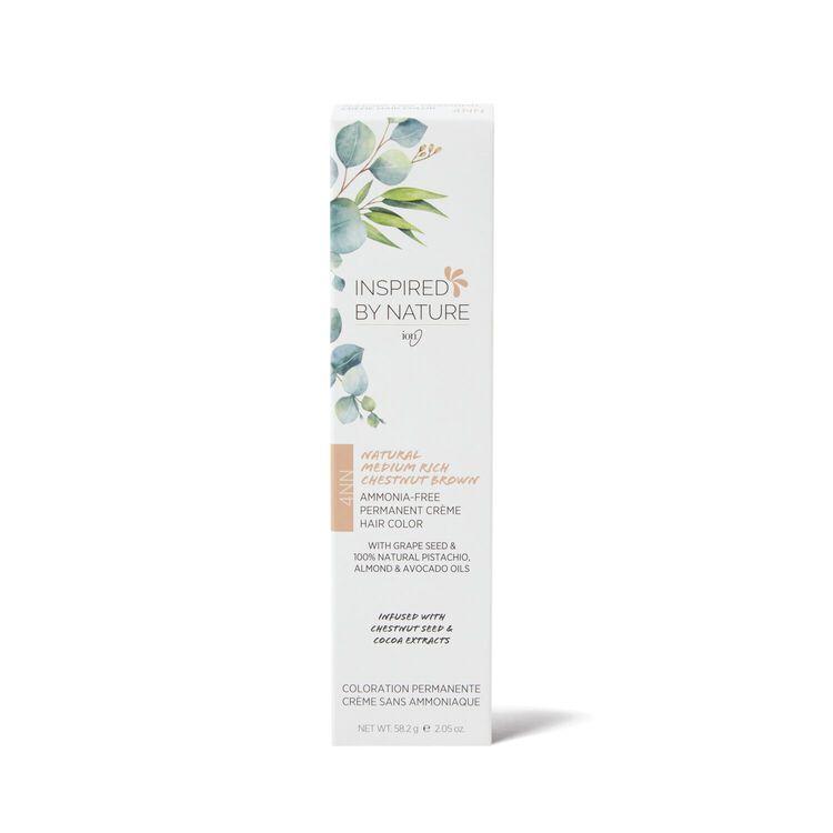 Ammonia-Free Permanent Hair Color Natural Medium Rich Chestnut Brown 4NN