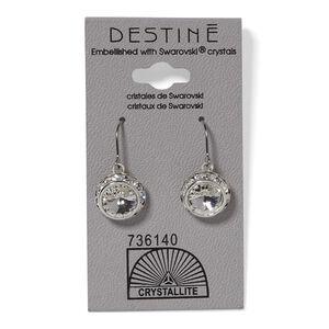 Crystal Rhinestone Rivoli Dangle Earring