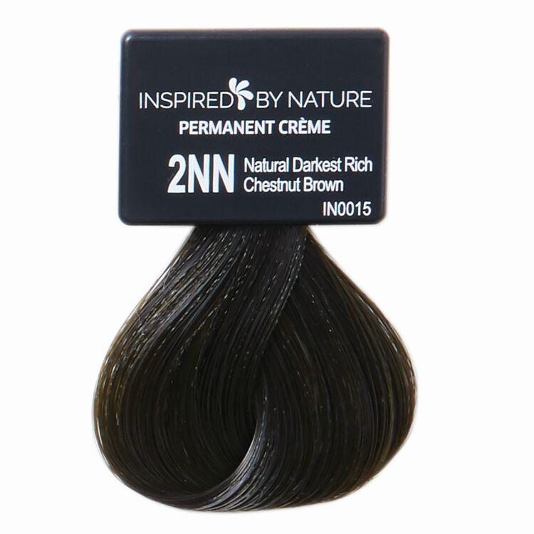 Ammonia-Free Permanent Hair Color Natural Darkest Rich Chestnut Brown 2NN