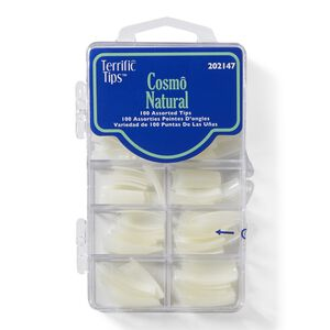 Cosmo Natural Nail Tips Assorted
