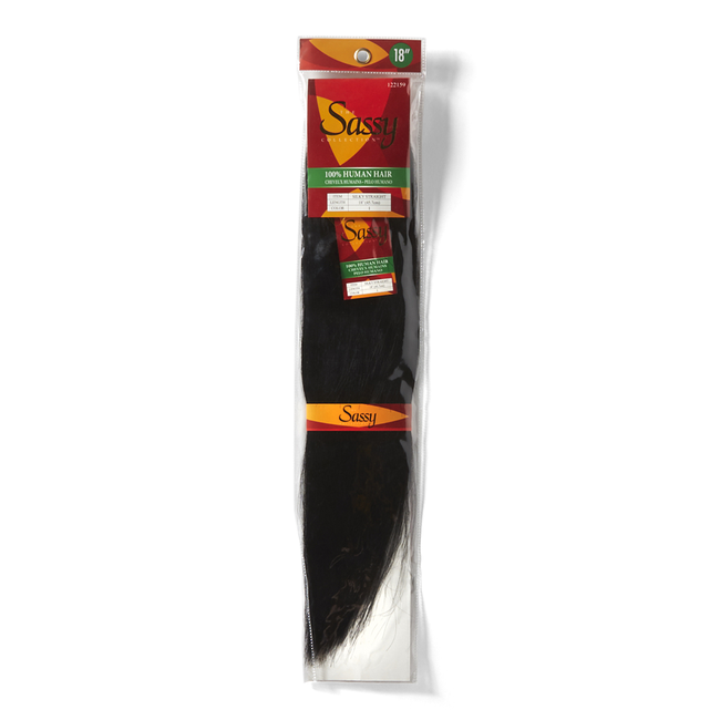 Silky Straight Jet Black 18 Inch Human Hair Extension
