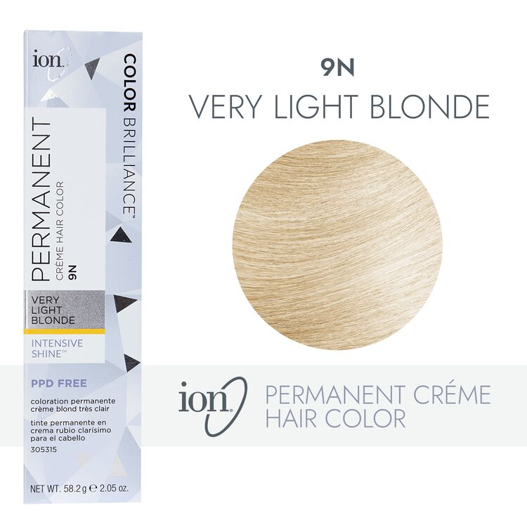 9N Very Light Blonde Permanent Creme Hair Color