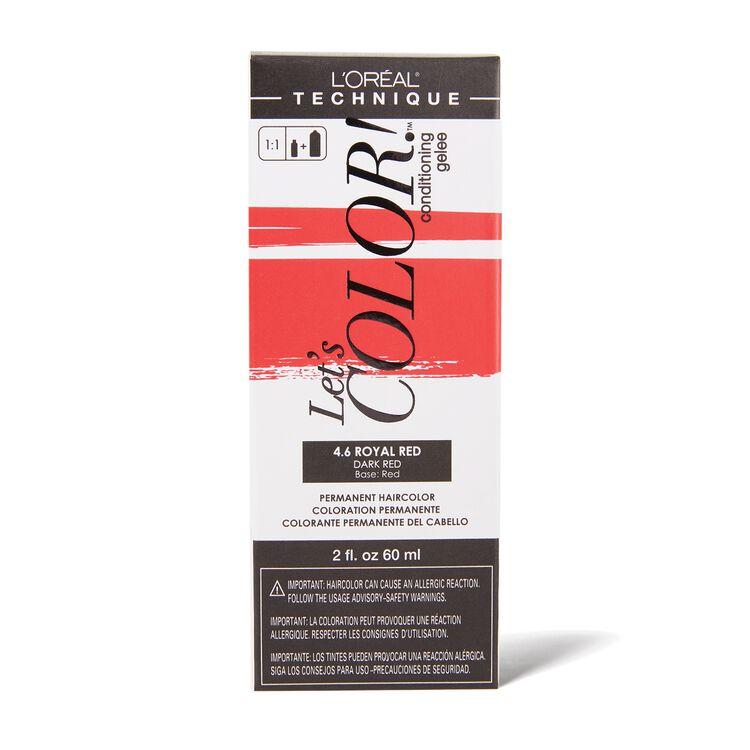 Let's COLOR! Conditioning Gelee Permanent Haircolor 4.6 Royal Red
