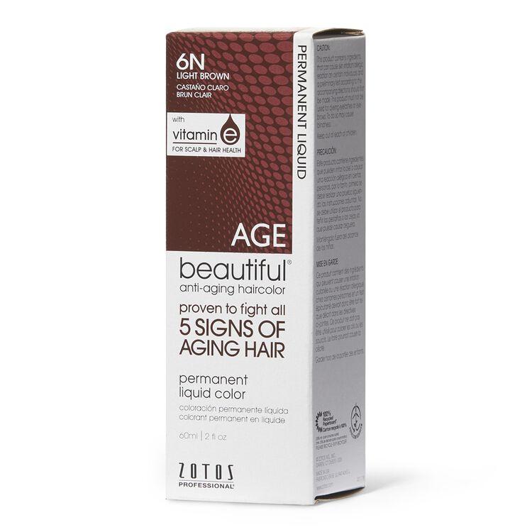 Anti-Aging 6N Light Brown Permanent Liquid Hair Color