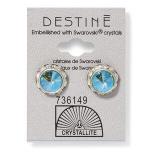 Destine Aqua Aura RS Rivoli Crystal Earring