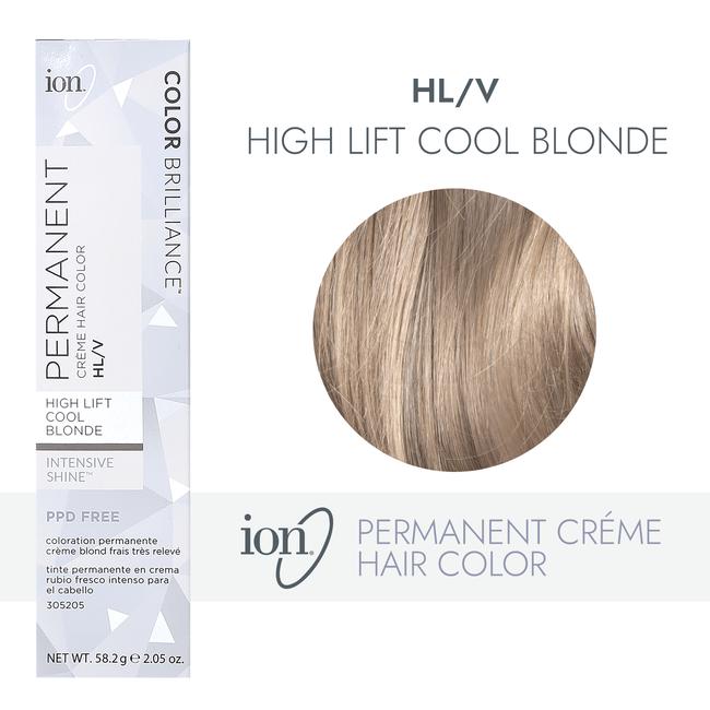HL-V Hi Lift Cool Blonde Permanent Creme Hair Color