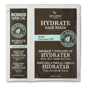 Hydrate Hair Oil & Mask Packette with Coconut Oil