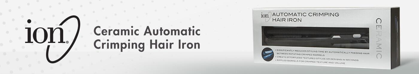 Ceramic automatic crimping hair iron.