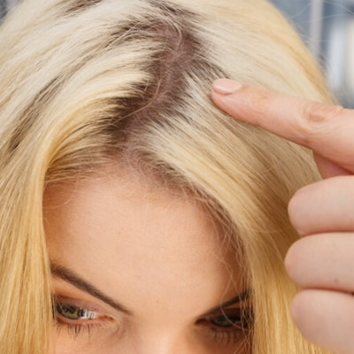 Temporary Blonde Colour and Rout Touch-Up