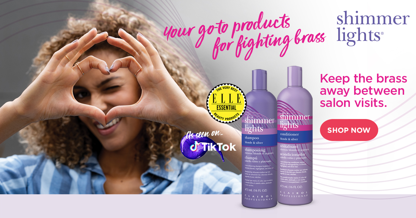 Shimmer Lights. Your go-to product for fighting brass. Keep the brass away between salon visits.